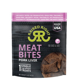 RAISED RIGHT Raised Right Meat Bites Pork Liver Treats 5oz