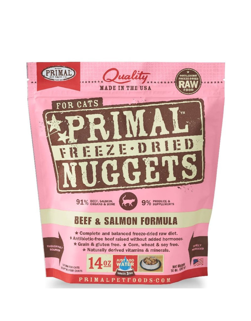 Primal Freeze Dried Beef & Salmon Nuggets for Cats