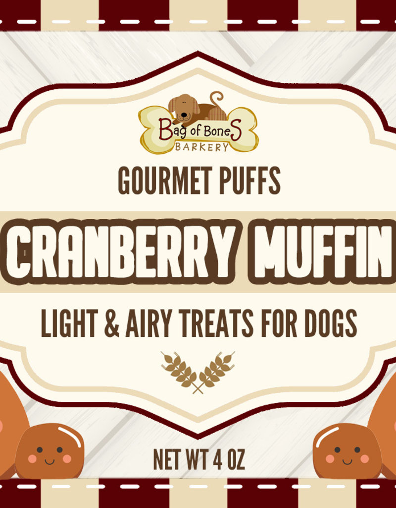 BAG OF BONES BARKERY Gourmet Puffs Cranberry Muffin