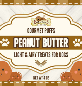 BAG OF BONES BARKERY Gourmet Puffs Peanut Butter