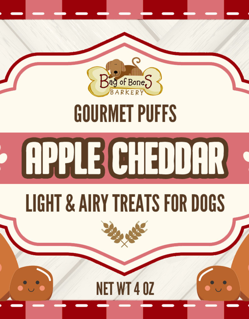 BAG OF BONES BARKERY Gourmet Puffs Apple Cheddar