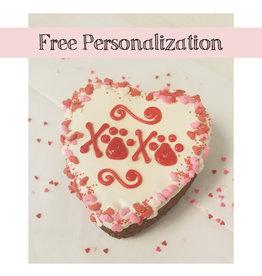 BAG OF BONES BARKERY Hugs & Kisses 4in Heart Cake