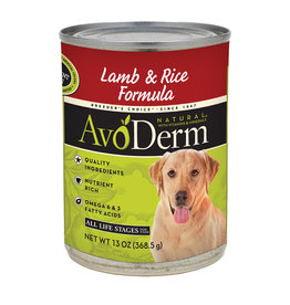 AVODERM AvoDerm Natural Lamb & Rice Canned Food