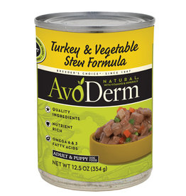AVODERM AvoDerm Natural Turkey & Vegetable Stew Canned Dog Food