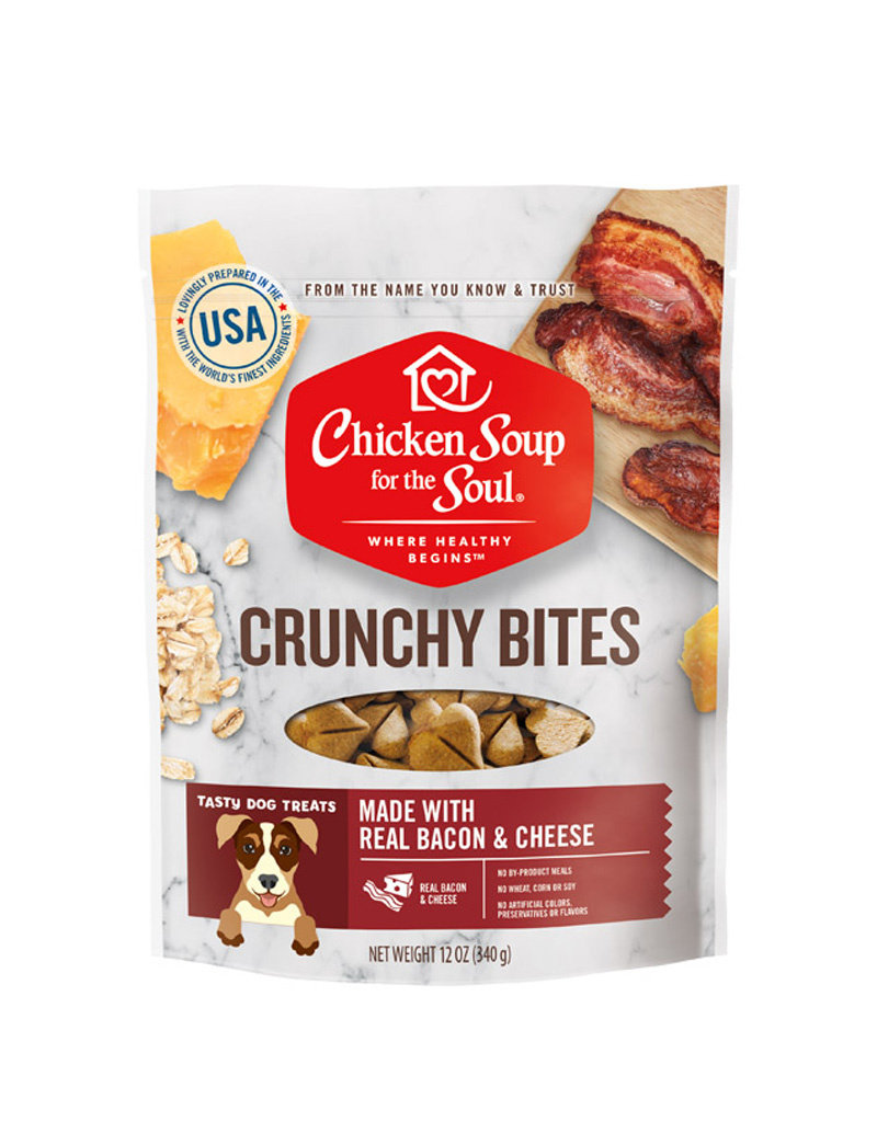 CHICKEN SOUP FOR THE SOUL Chicken Soup For The Soul Crunchy Bites Bacon & Cheese Dog Treats 12oz