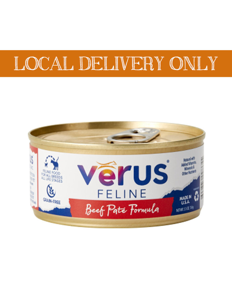 VERUS Verus Feline Grain Free Beef Canned Cat Food 5.5oz