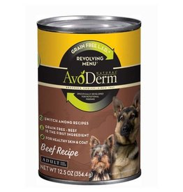 AVODERM AvoDerm Revolving Menu LID Grain Free Beef Canned Dog Food