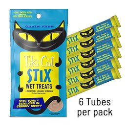 TIKI PETS Tiki Cat Stix Tuna & Scallops Mousse 3oz