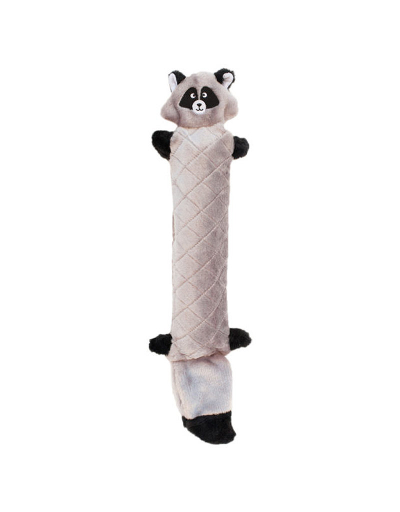 ZIPPY PAWS Zippy Paws Jigglerz No Stuffing Raccoon Dog Toy