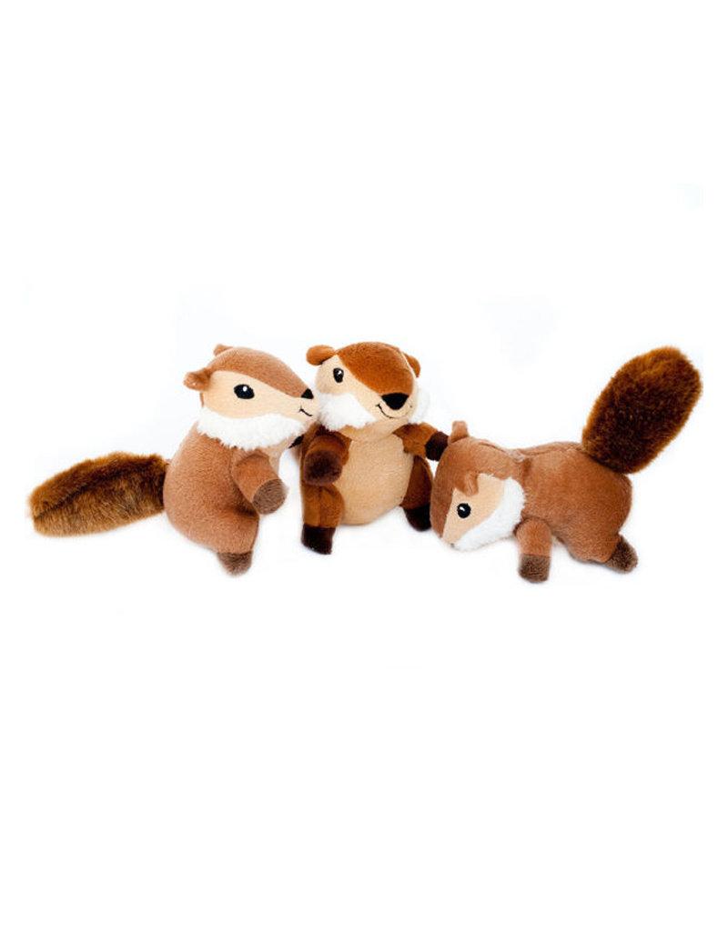 ZIPPY PAWS Zippy Paws Miniz Chipmunks 3-Pack Dog Toys