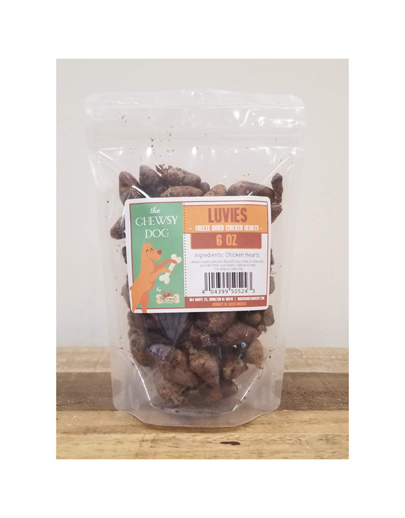 THE CHEWSY DOG The Chewsy Dog Luvies Freeze Dried Chicken Hearts 6oz