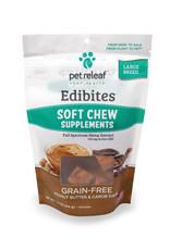 PET RELEAF Pet Releaf Edibites Soft & Chewy Peanut Butter & Carob