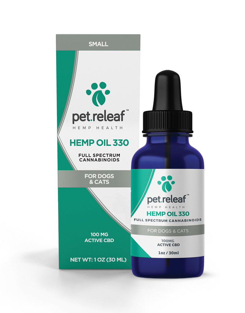 PET RELEAF Pet Releaf CBD Hemp Oil 330mg 1oz Bottle