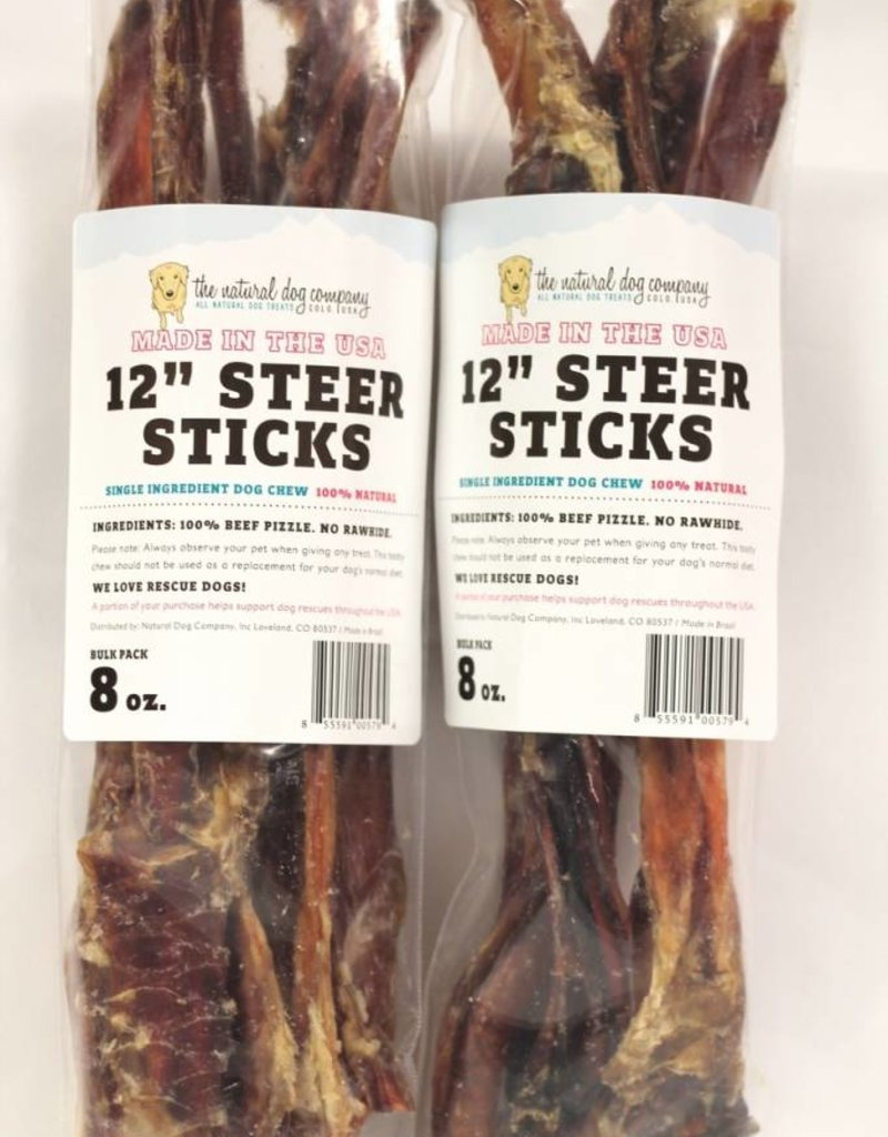 NATURAL DOG COMPANY Natural Dog Co USA Steer Sticks 12in