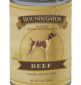 HOUND & GATOS Hound & Gatos Beef 13oz Canned Dog Food (Case of 12)