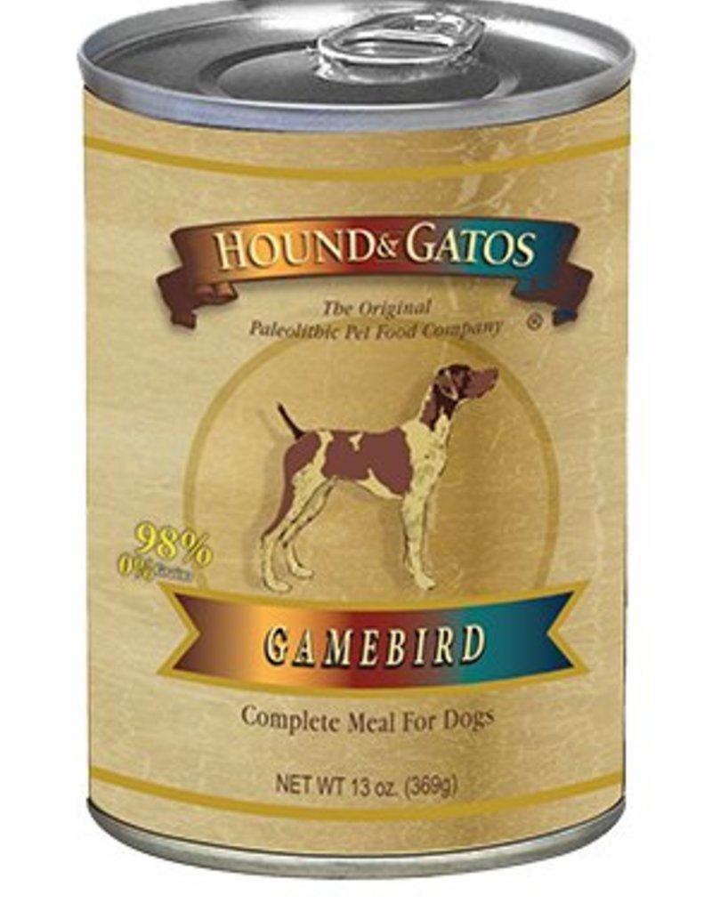 HOUND & GATOS Hound & Gatos Gamebird 13oz Canned Dog Food (Case of 12)