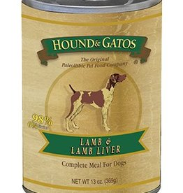 HOUND & GATOS Hound & Gatos Lamb/Lamb Liver 13oz Canned Dog Food (Case of 12)