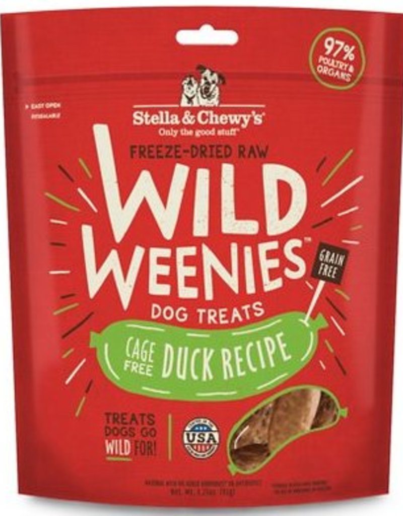 STELLA & CHEWYS Stella and Chewy's  Wild Weenies Duck Recipe 3.25oz