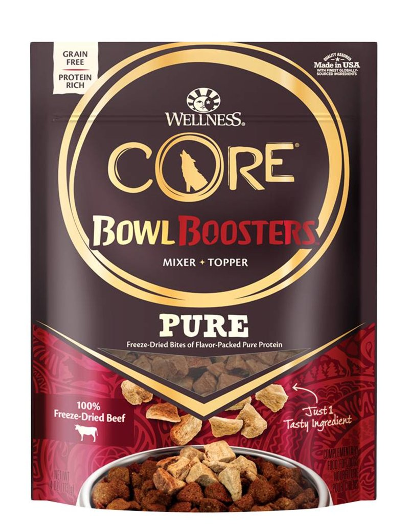 WELLNESS Wellness CORE Pure Bowl Boosters Beef Freeze Dried 4oz