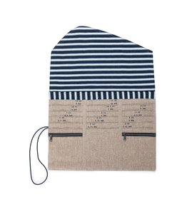 Della Q - Tri-Fold Circular Needle Case - Beige Linen