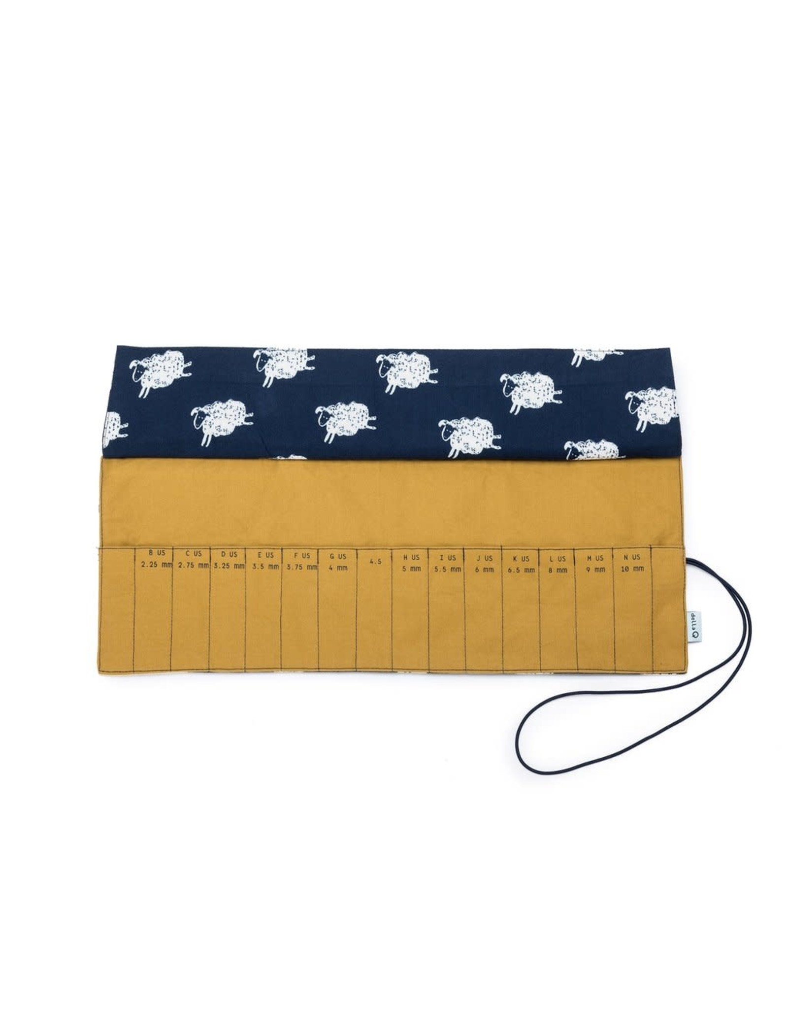 Della Q - Crochet Roll - Sheep/Gold Cotton