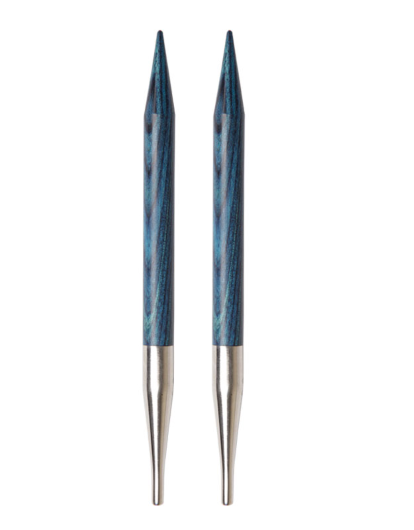 """Dreamz size US 17 interchangeable needle tips for 24"""" cords and up."""