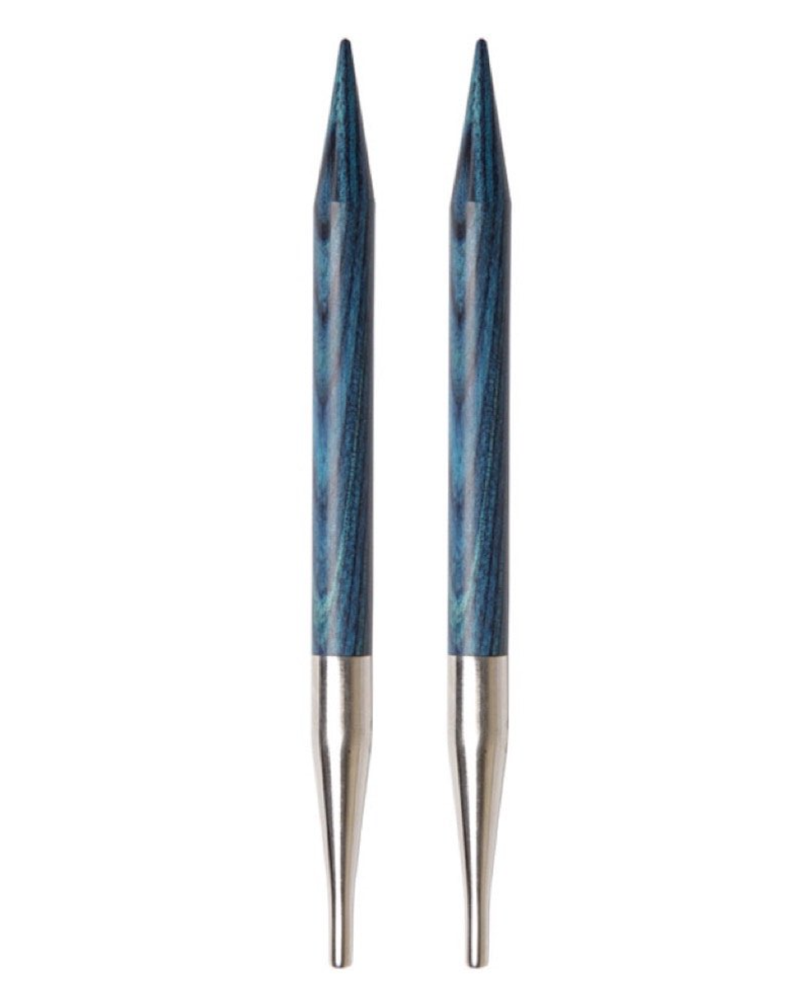 """Dreamz size US 6 """"special"""" (short) interchangeable needle tips for 16"""" cords."""
