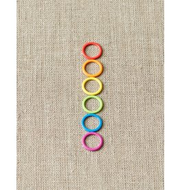 Colorful Ring Stitch Markers by Cocoknits