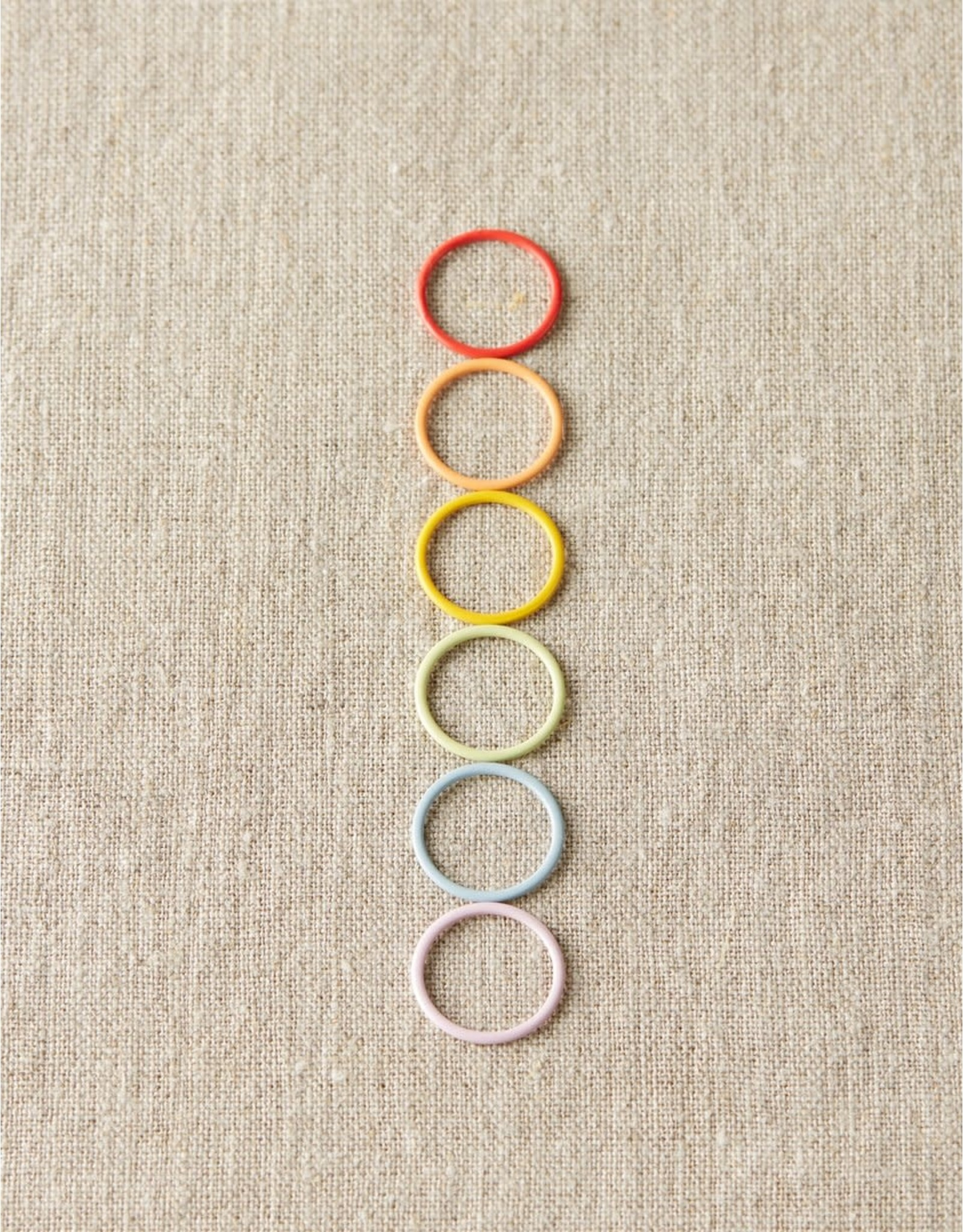 Jumbo Colorful Ring Stitch Markers by Cocoknits