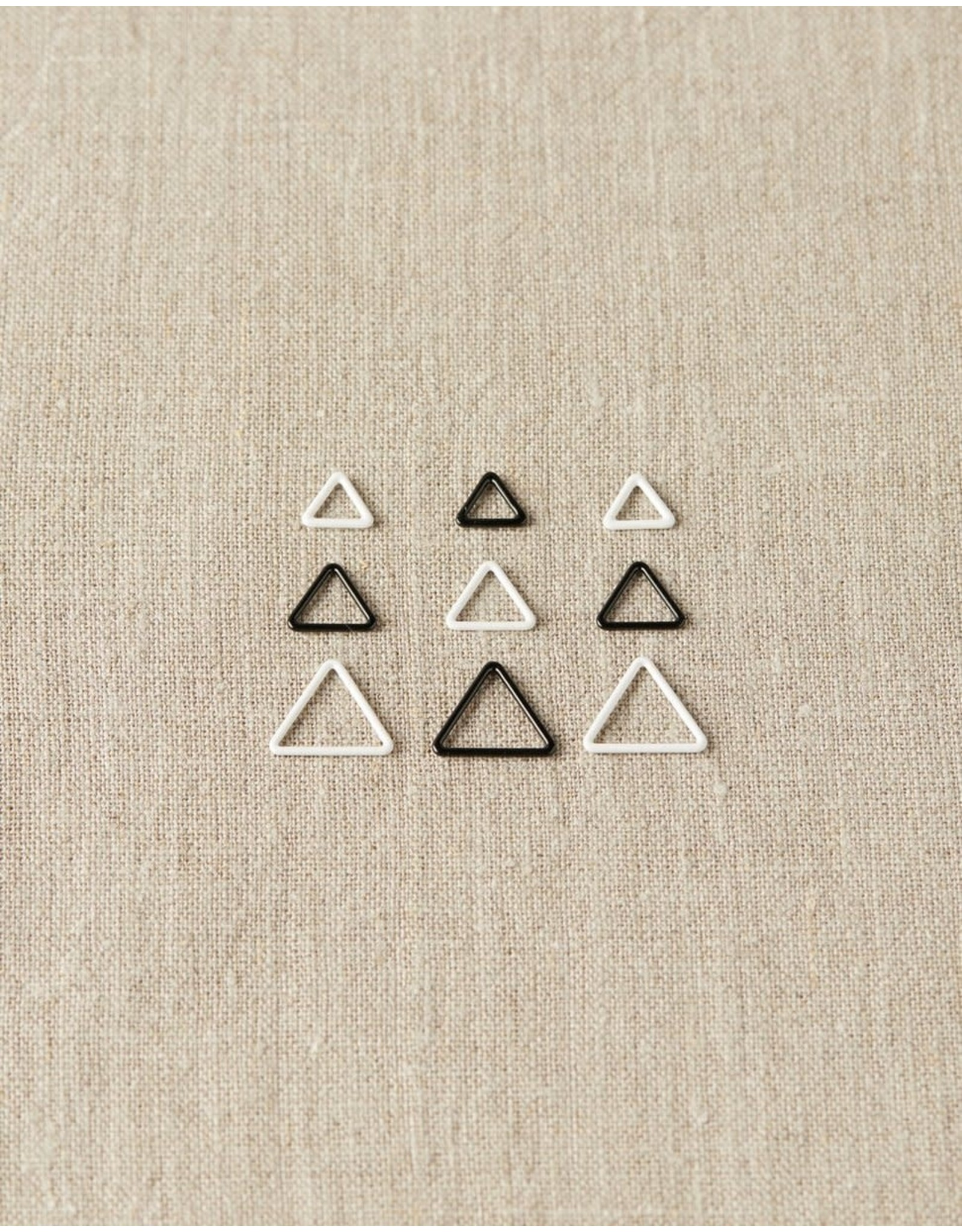 Triangle Stitch Markers in Tin by Cocoknits