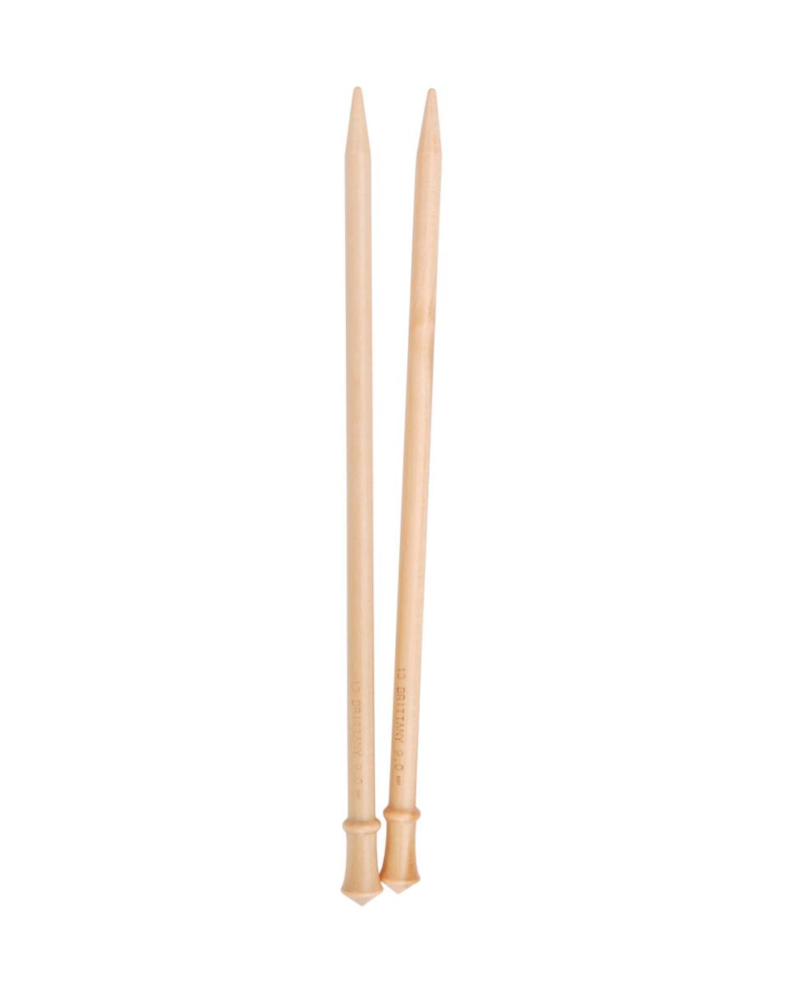 """Brittany 10"""" long straight needles, size US 10.5"""