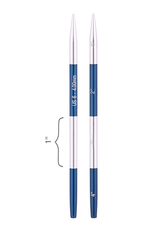 """Smart Stix size US 6 interchangeable needle tips for 24"""" cords and up."""