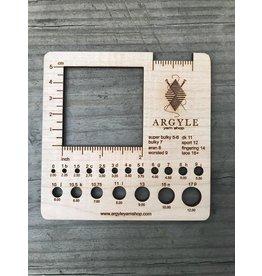 Argyle Yarn Shop large needle gauge by Katrinkles