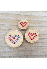 "Heart Button - 5/8"" single button by Katrinkles"