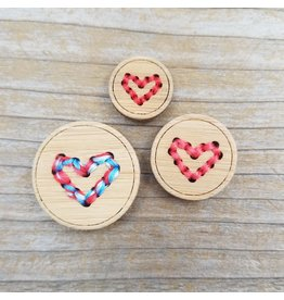 """Heart Button - 5/8"""" single button by Katrinkles"""