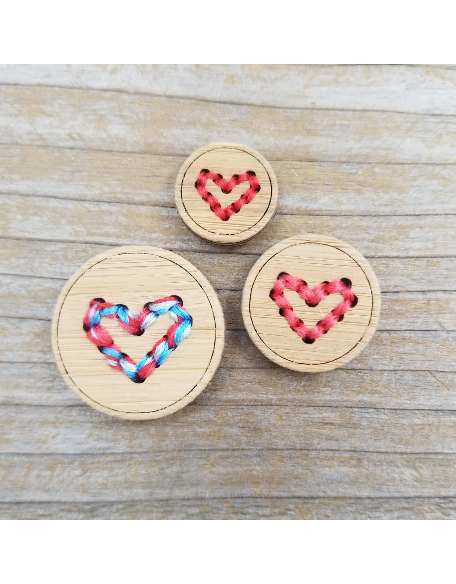 "Heart Button - 1"" single button by Katrinkles"
