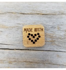 """Made With Love stitchable heart tags 3/4"""" card of 4 by Katrinkles"""