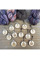 Coffee limited edition ring stitch markers by Katrinkles