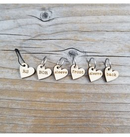 Instruction set of stitch markers by Katrinkles