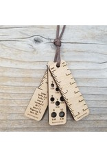 Tiny Tool Pendant Necklace w/brown cord by Katrinkles
