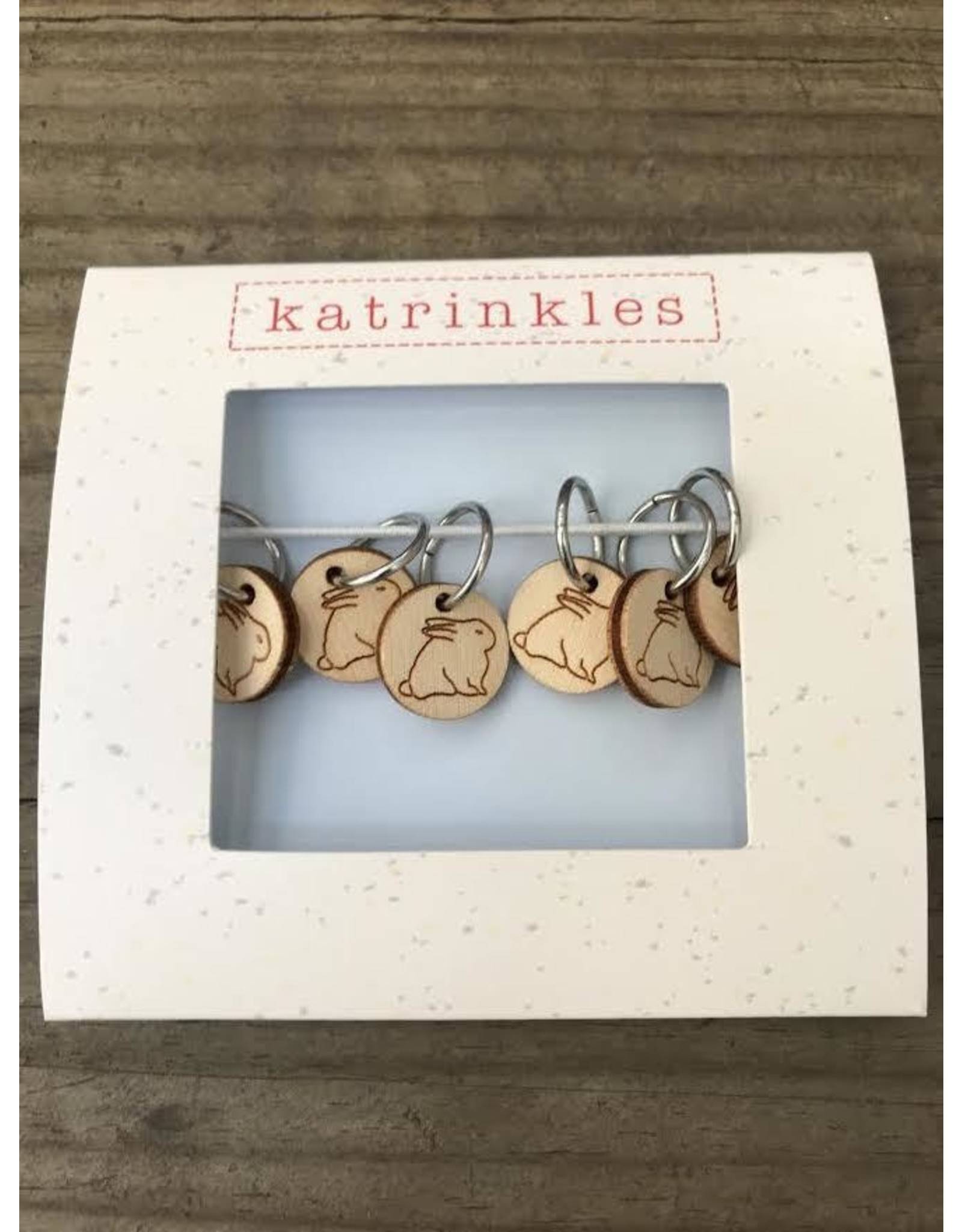 Bunny style ring stitch markers by Katrinkles