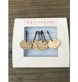 Corgi style removable stitch markers by Katrinkles