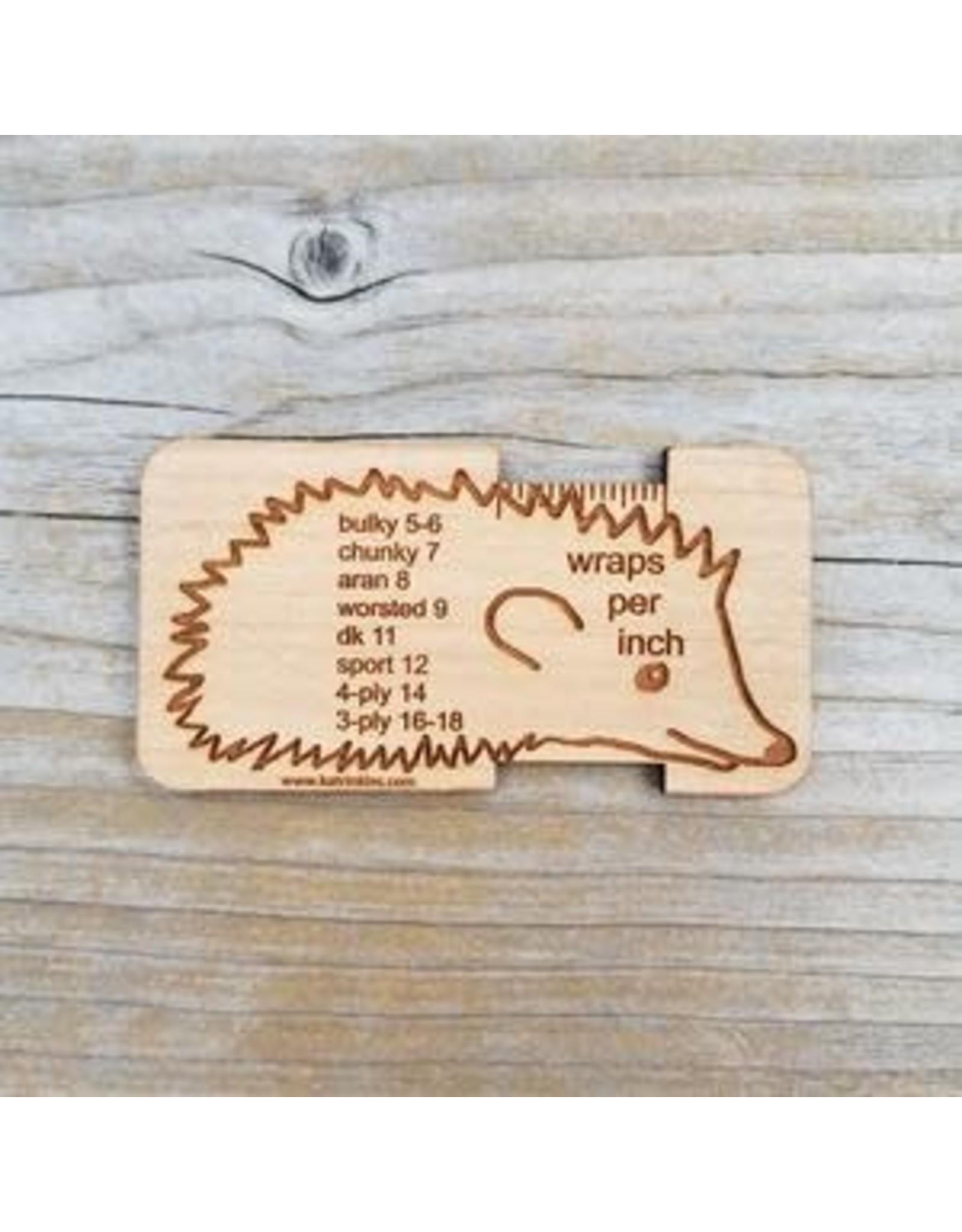 Hedgehog Wraps Per Inch Tool by Katrinkles