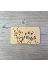 Cat Knitting Needle Gauge by Katrinkles