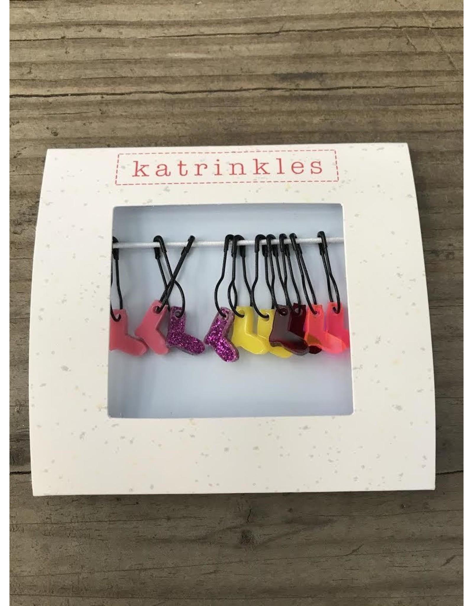 Tiny Sock Stitch Pin Marker Set (Pinks) by Katrinkles