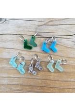Tiny Sock Stitch Ring Marker Set (Blues) by Katrinkles
