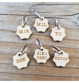 Increase/Decrease set of ring stitch markers by Katrinkles