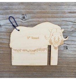 """Fiber Animal Tassel Maker 5"""" Musk Ox by Katrinkles"""