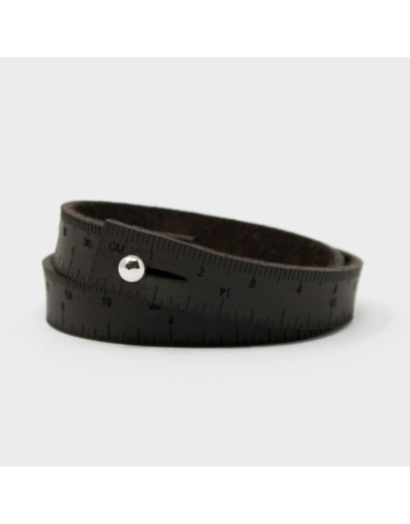Wrist Ruler - DARK BROWN - 16 inches