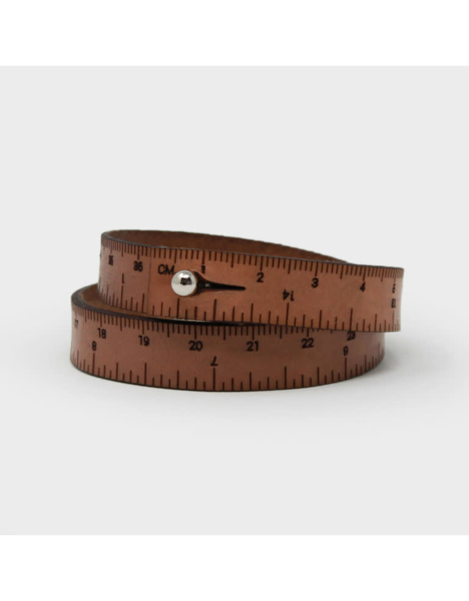 Wrist Ruler - MEDIUM BROWN - 16 inches